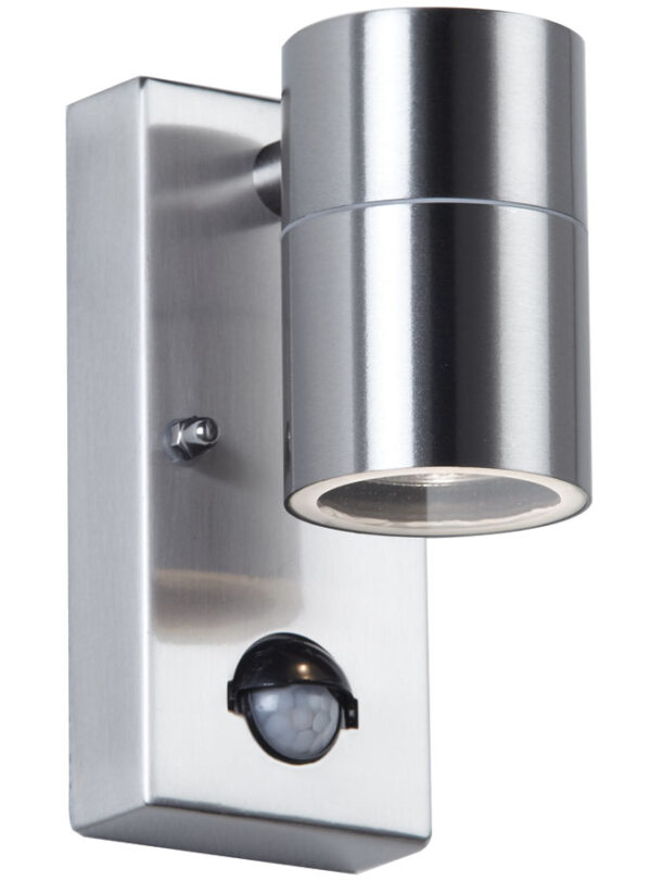Canon Stainless Steel Outdoor Wall Downlight With PIR Sensor