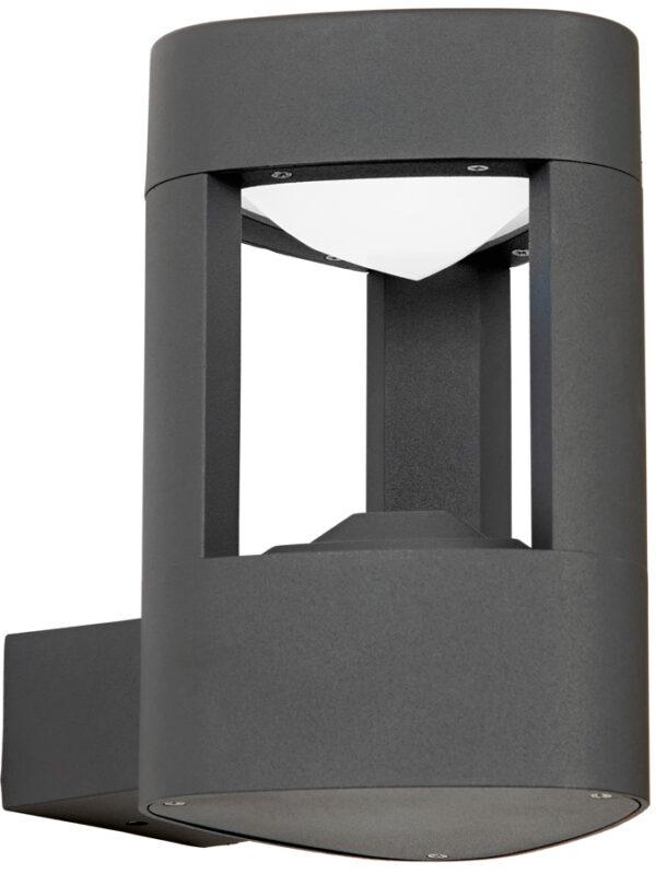 Modern Outdoor LED Wall Light Triangular Matt Grey