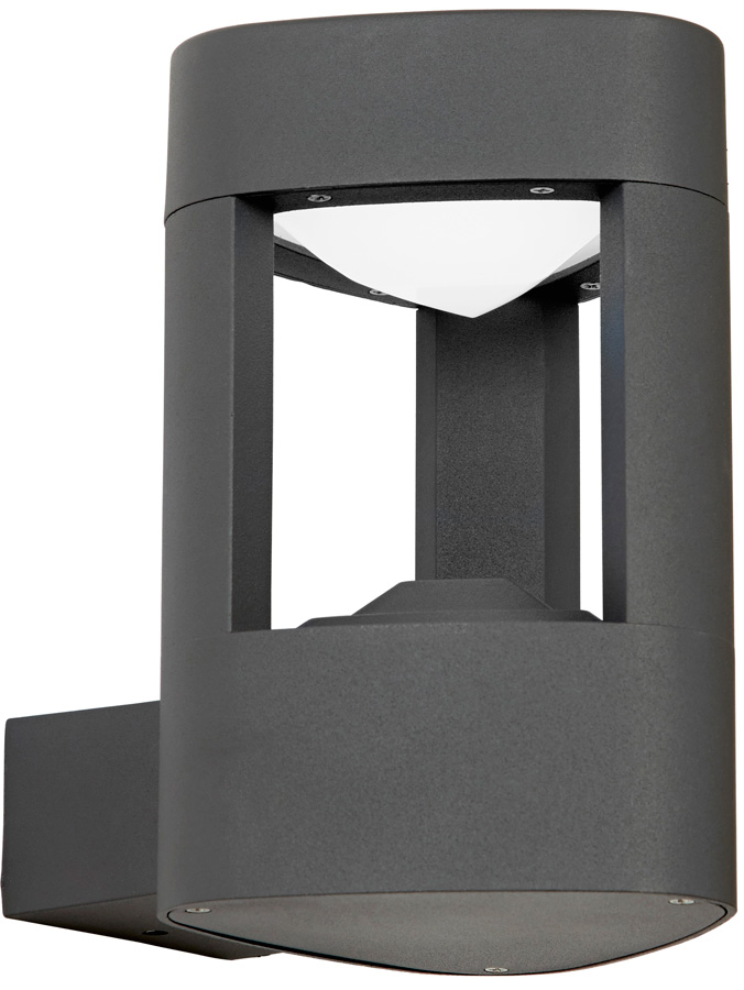 Modern Outdoor LED Wall Light Triangular Matt Grey EL 40074