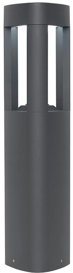 Modern Outdoor LED 500 mm Post Light Triangular Matt Grey
