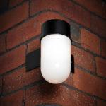 Ware Black Rust Proof Outdoor Corner Wall Light