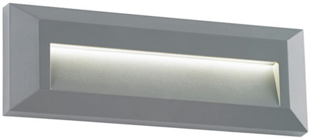 Severus Grey Rust Proof Angled Letterbox Path Light 2W LED