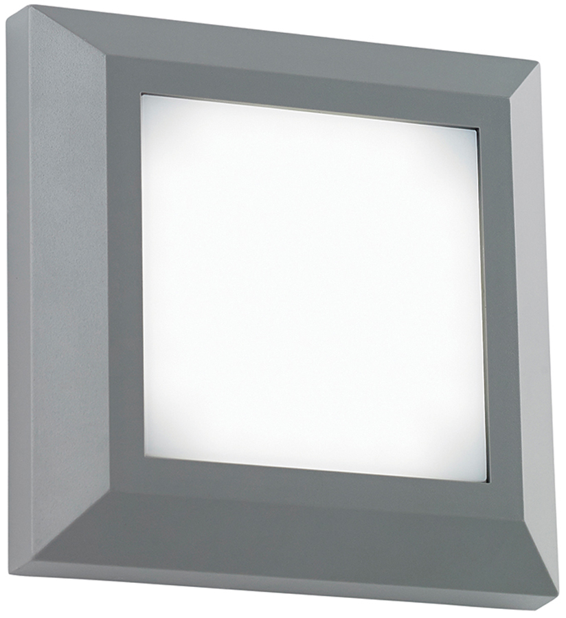 severus grey rust proof square outdoor path light 3w led. Black Bedroom Furniture Sets. Home Design Ideas