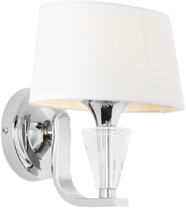 Fiennes Contemporary Single Wall Light Polished Nickel