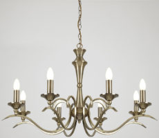 Kora Traditional Antique Brass 8 Light Chandelier