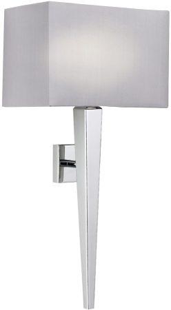 Moreto Modern Chrome Wall Light With Grey Shade