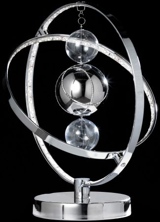 Muni Modern Chrome Sphere LED Table Lamp
