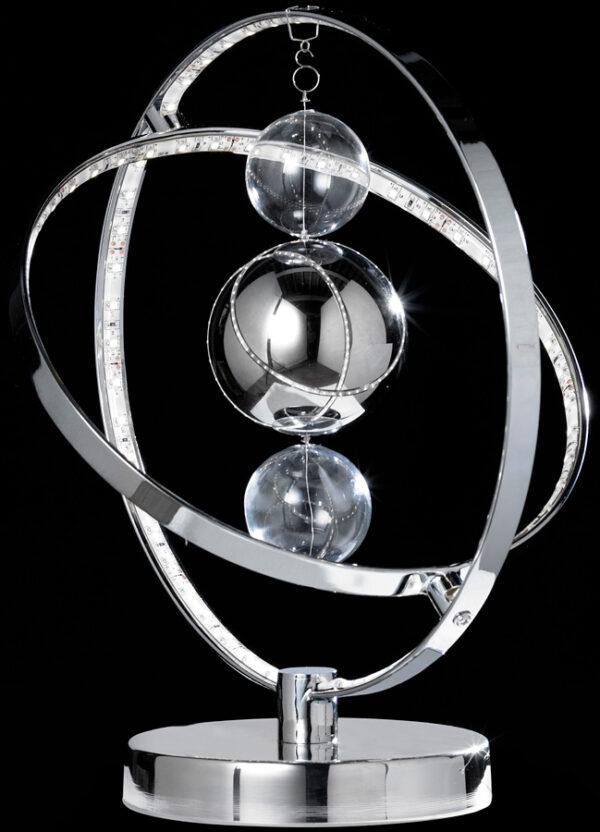 Endon Muni LED Contemporary Sphere Table Lamp Polished Chrome