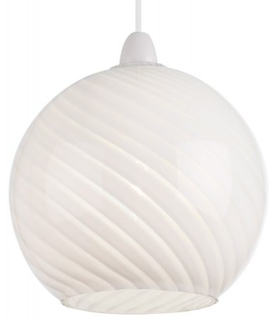 Lowther Swirled White Glass Ceiling Lamp Shade