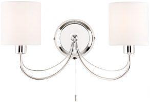 Phantom Chrome Finish 2 Lamp Switched Wall Light