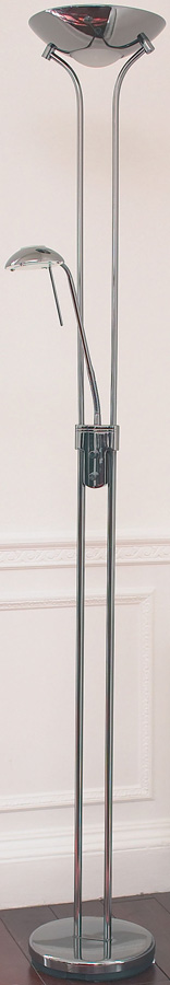 Rome Polished Chrome Mother And Child Floor Lamp
