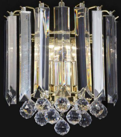 Polished Brass 2 Light Acylic Wall Lamp Fitting
