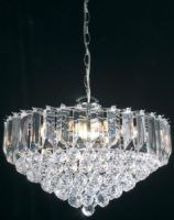 Fargo Chrome 450mm 6 Light Acylic Rod Ceiling Pendant