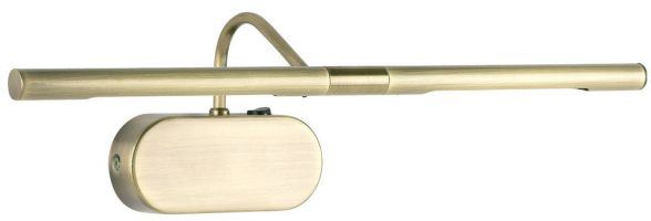 Antique Brass Switched 420mm Slimline Picture Light