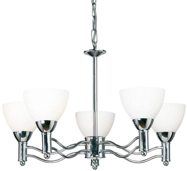 Modern Chrome 5 Lamp Ceiling Pendant Light Special Offer