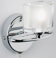 Sonata Modern Chrome Switched Single Wall Light