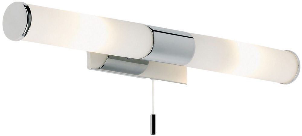 Vanity Light Bar With Switch : Medium Chrome Over Mirror Switched Bathroom Light EL-257-WB