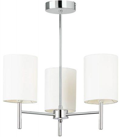 Brio Traditional Chrome 3 Lamp Ceiling Light