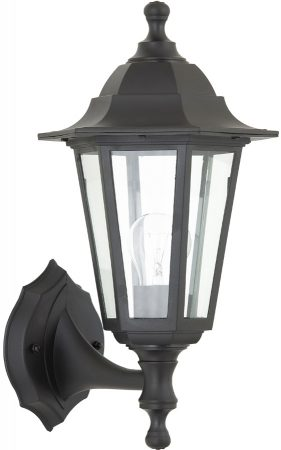 Bayswater Traditional Rust Proof Outdoor Wall Lantern Black IP44