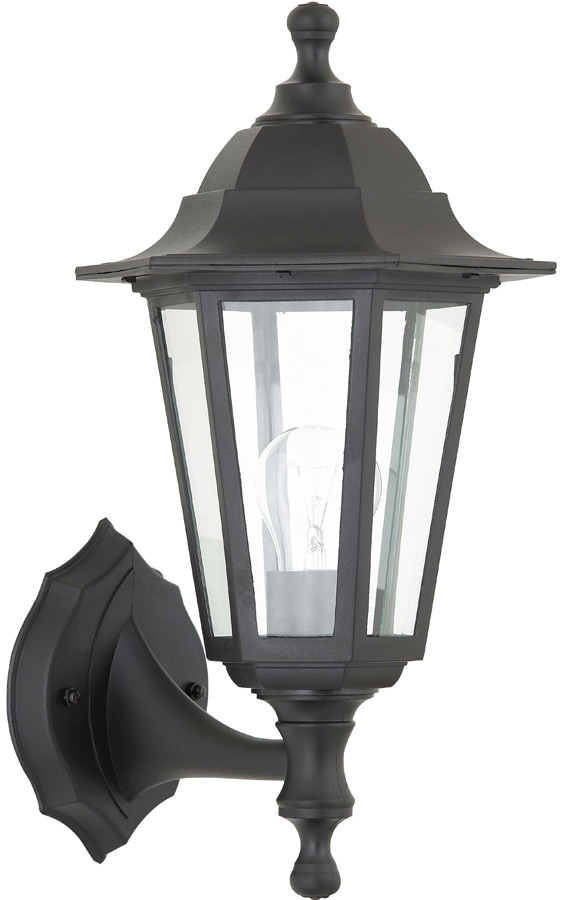 Bayswater traditional rust proof outdoor wall lantern black IP44 up