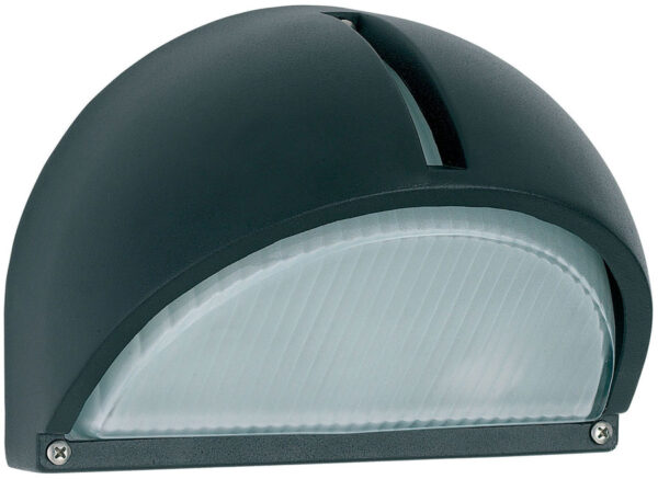 Black Low Energy Angled Outdoor Wall Light