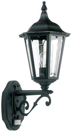 Traditional Black Outdoor PIR Sensor Wall Lantern