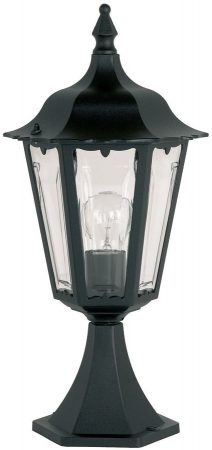 Traditional Black Finish Post Top Pedestal Light