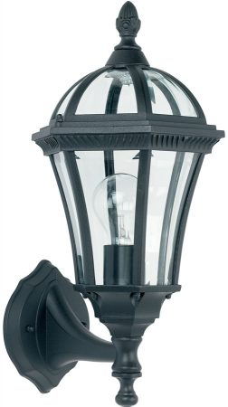 Classic Black Upward Outdoor Wall Lantern