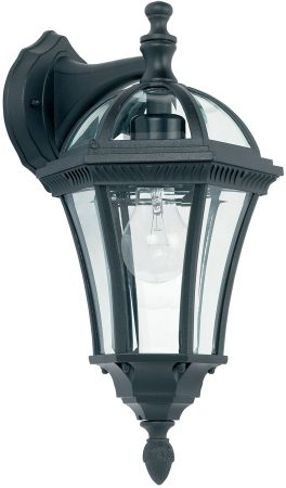 Classic Black Downward Outdoor Wall Lantern