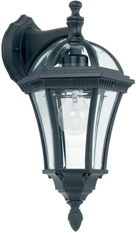 Drayton Classic Black Downward Outdoor Wall Lantern IP44
