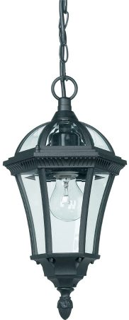 Classic Black Finish Hanging Porch Lantern