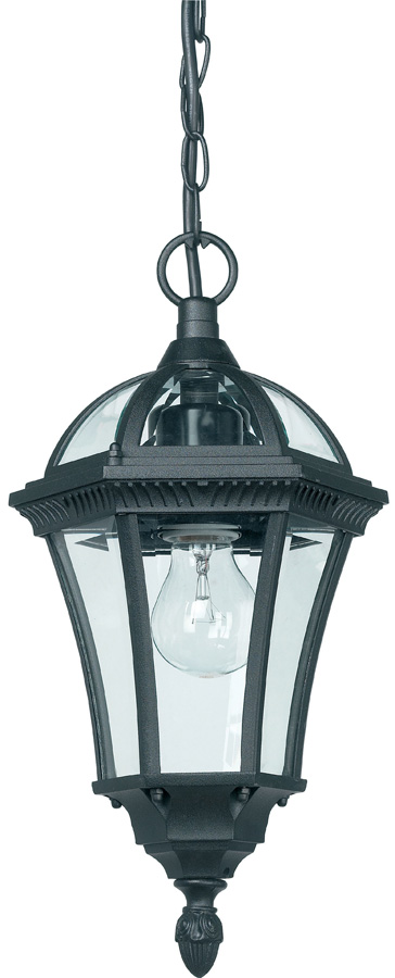 Drayton Classic Black Hanging Outdoor Porch Chain Lantern IP44