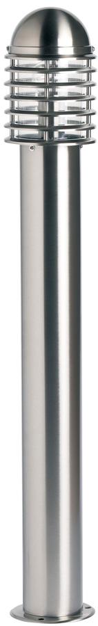 Endon Louvre 100cm Outdoor Bollard Post Light 304 Stainless Steel IP44