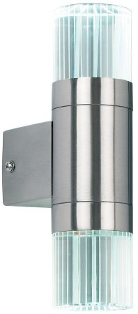 Grant Stainless Steel Outdoor LED Wall Light With Crystal Glass