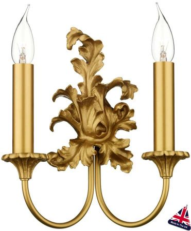 David Hunt Ormolu Traditional Gold Twin Wall Light UK Made