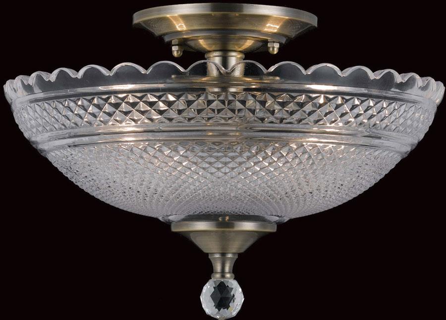 newest 06270 f202c Antique Brass Art Deco Flush Mount 2 Light Ceiling Lamp