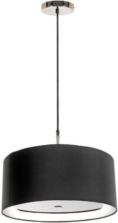 Elstead Sienna Polished Nickel 3 Light 46cm Ebony Drum Pendant