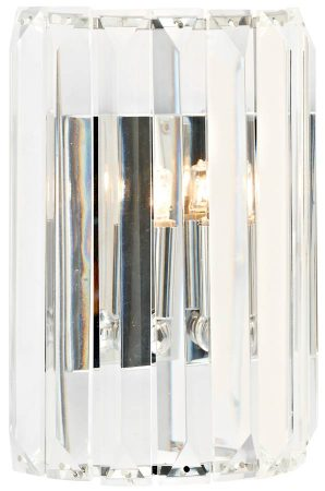 Dar Sketch Switched 1 Lamp Crystal Wall Light Chrome