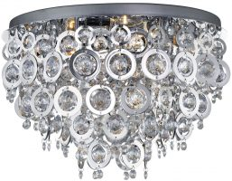 Nova Polished Chrome Rings 5 Light Flush Mount Ceiling Light