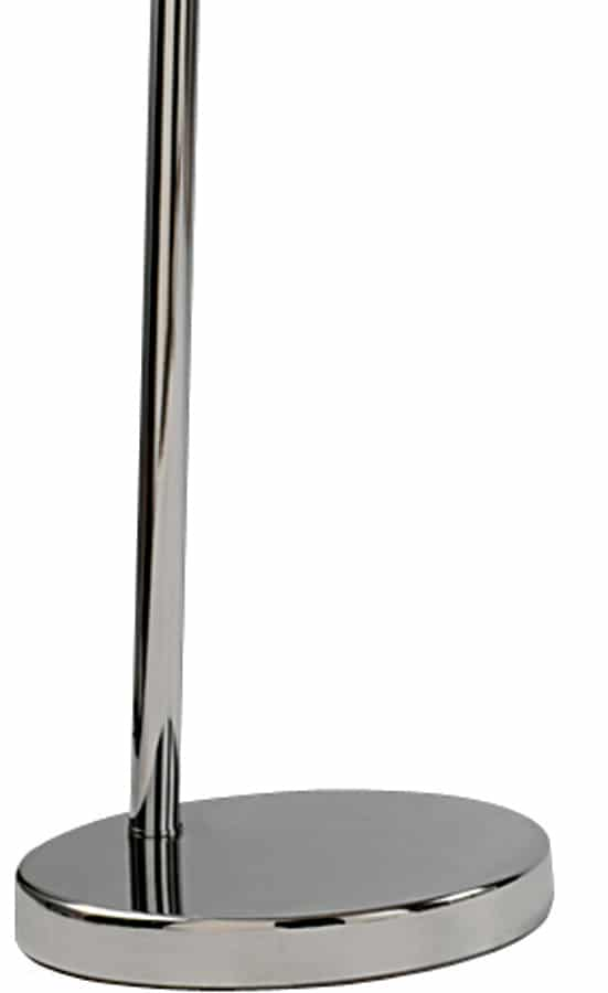 arc floor lamp in chrome with silver lined black shade 1013cc. Black Bedroom Furniture Sets. Home Design Ideas