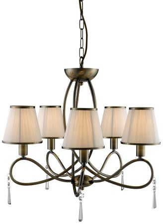 Simplicity 5 Light Contemporary Brass Finish Chandelier