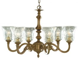 Malaga Solid Cast Antique Brass 6 Light Chandelier