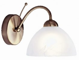 Milanese Antique Brass Single Traditional Wall Light