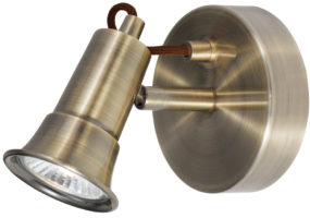 Eros Modern Antique Brass Single Wall Spot Light