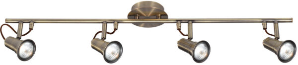 Eros Modern Antique Brass 4 Spot Light Ceiling Bar