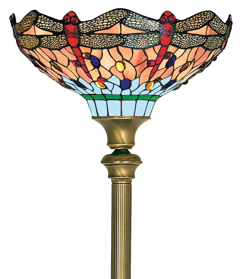 Hand Made Dragonfly Tiffany Floor Lamp Uplighter 1285