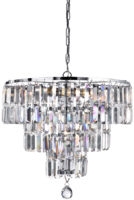 Empire Modern 3 Tier Crystal And Chrome Chandelier