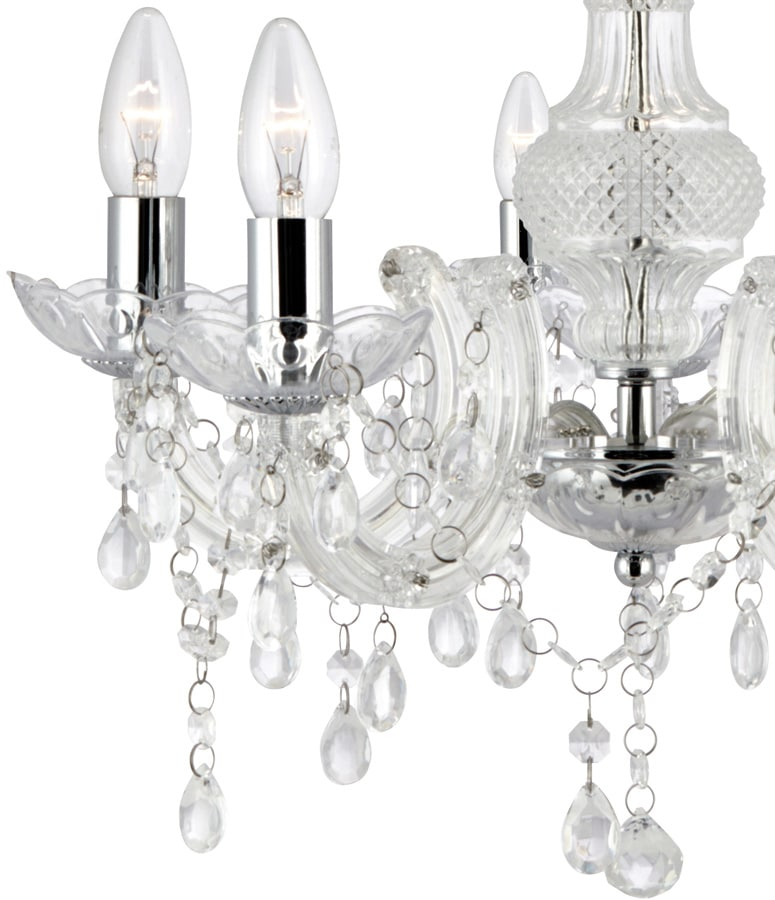 Marie Therese Chrome And Clear Acrylic 5 Light Chandelier