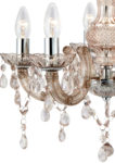 Marie Therese Chrome And Mink Acrylic 5 Light Chandelier