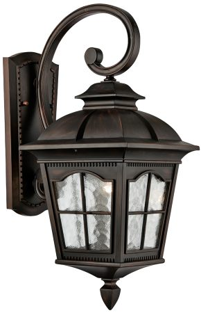 Pompeii Large Brown Stone Downward Outdoor Wall Lantern